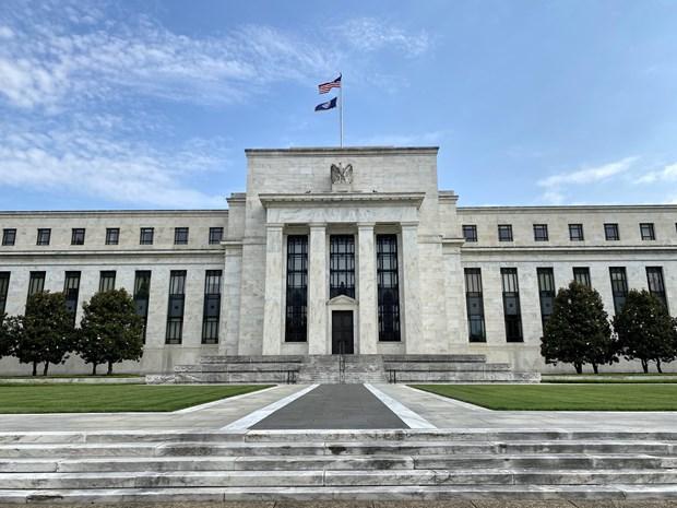 Trụ sở Ngân hàng Dự trữ liên bang Mỹ (Fed) tại Washington, DC. (Ảnh: AFP/TTXVN)