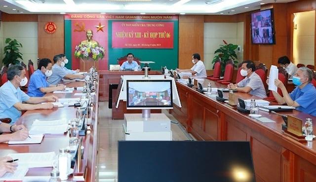 Ủy ban Kiểm tra Trung ương đã họp kỳ thứ 6.