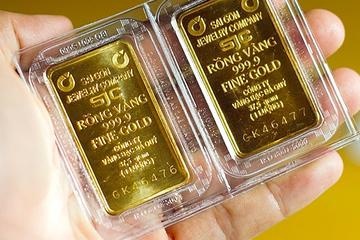 Giá vàng xuống thấp nhất trong 2 tuần qua