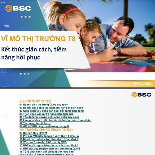 BSC: Vĩ mô và thị trường tháng 8 - Kết thúc giãn cách, tiềm năng phục hồi