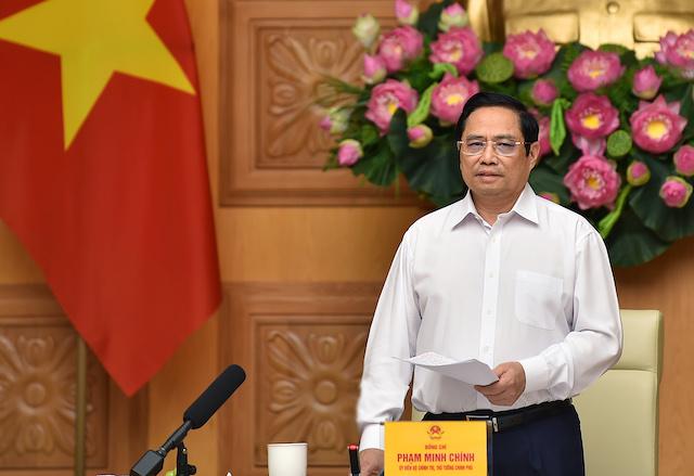 Thủ tướng Phạm Minh Chính tại buổi làm việc