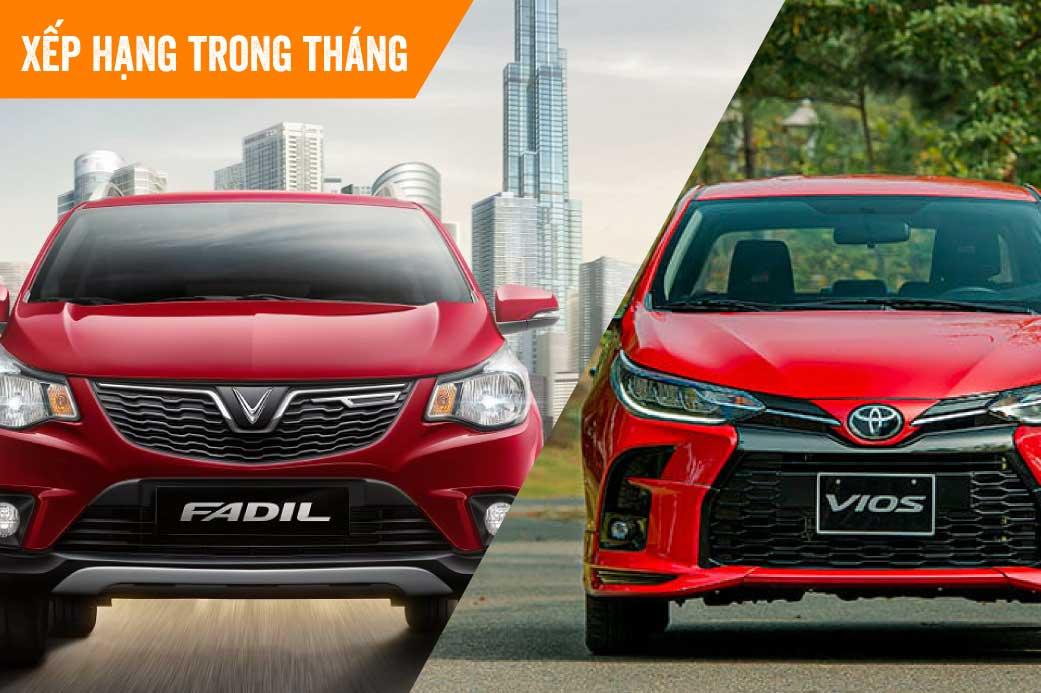 Ôtô bán chạy nhất tháng 8: Doanh số của VinFast Fadil gấp đôi Toyota Vios