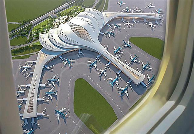 Tháng 2/2022, ACV triển khai xây dựng nhà ga hành khách. Ảnh: ACV