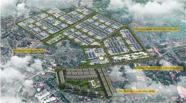 Dự án xây dựng kinh doanh hạ tầng kỹ thuật khu công nghiệp Tam Dương I do Tập đoàn Sơn Hà là nhà đầu tư