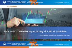 YSVN: Thị trường chứng khoán tháng 9 - VN-Index duy trì đà tăng về 1.380 và 1.420 điểm