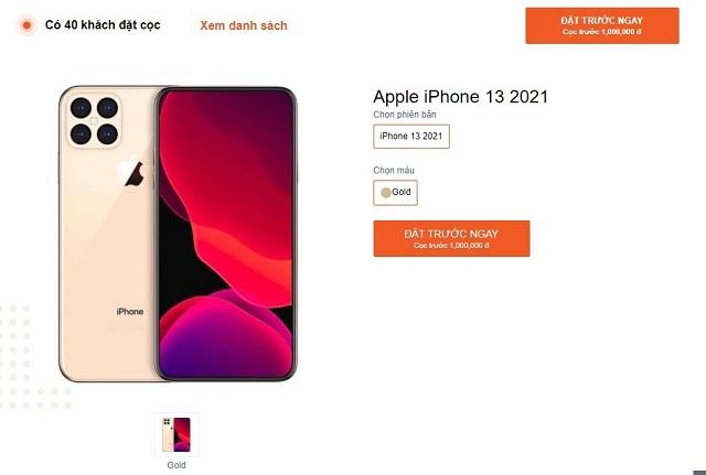 Các cửa hàng rục rịch cho đặt trước iPhone 13