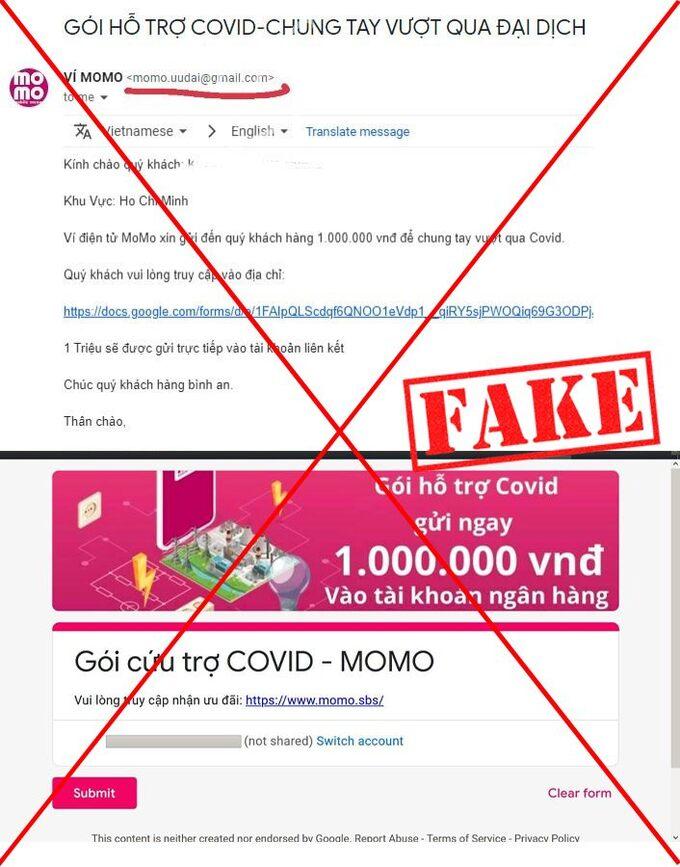 Cảnh giác chiêu mạo danh gói cứu trợ của MoMo để lừa đảo