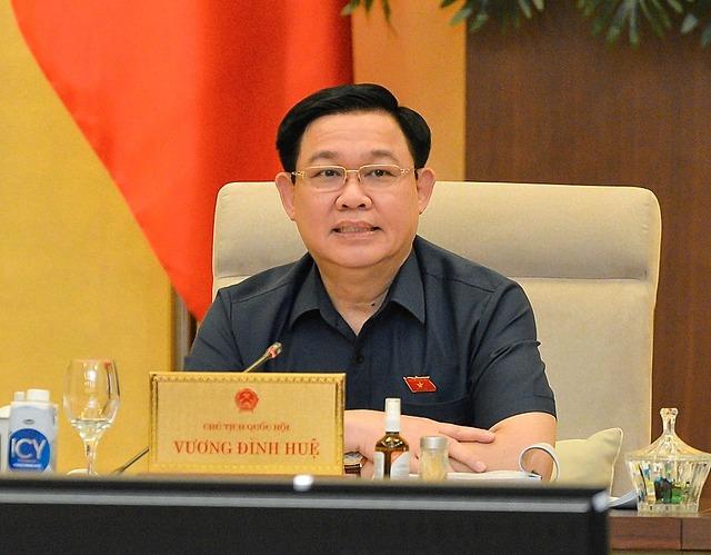 Chủ tịch Quốc hội Vương Đình Huệ. Ảnh: Hoàng Phong.