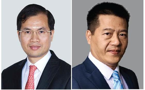 Ông Ân Thanh Sơn (trái) và ông Hồ Vân Long (phải). Ảnh: VIB.
