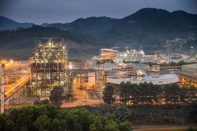Nhà máy của Masan High-Tech Materials tại mỏ đa kim Núi Pháo. Ảnh: thainguyen.gov.vn