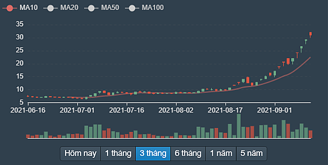 Diễn biến cổ phiếu BII từ tháng 6/2021 đến nay