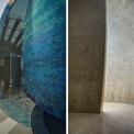 """<p> Một điểm đặc biệt khác của công trình này là phòng thờ hình quả trứng và được trang trí bằng gạch mosaic lấp lánh.Không gian khu thờ cúng được thiết kế dạng xoắn ốc để đem tới cho gia chủ cảm giác """"như mặt trăng đi quanh một hành tinh"""".</p>"""