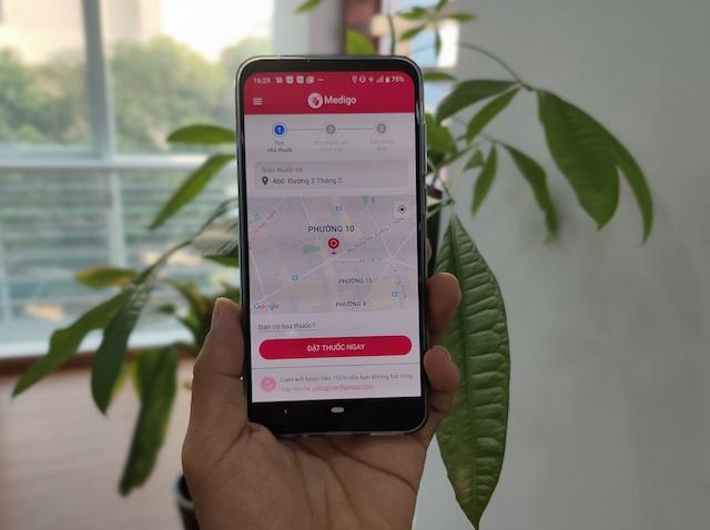 Giao diện ứng dụng Medigo