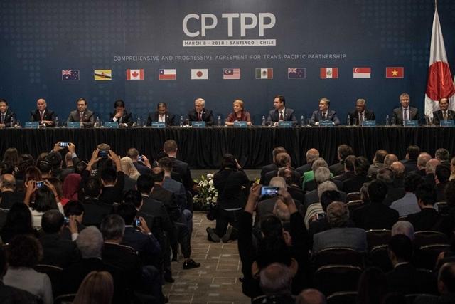 CPTPP bao gồm 11 thành viên sáng lập, chiếm khoảng 13% GDP  toàn cầu. Ảnh: Xinhua
