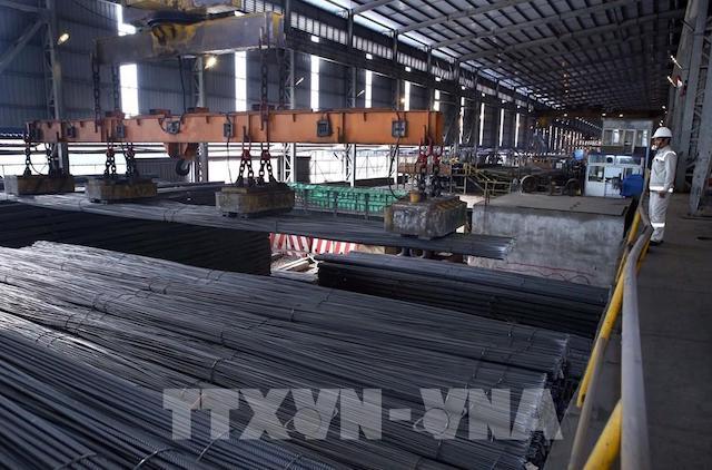 Sản lượng thép thành phẩm tháng 8 đạt gần 2,4 triệu tấn giảm gần 2% so với tháng 7.