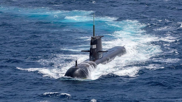Australia sẽ được Mỹ, Anh trợ giúp, chuyển giao công nghệ phát triển tàu ngầm trong khuôn khổ hợp tác AUKUS. Ảnh: Australia Royal Navy