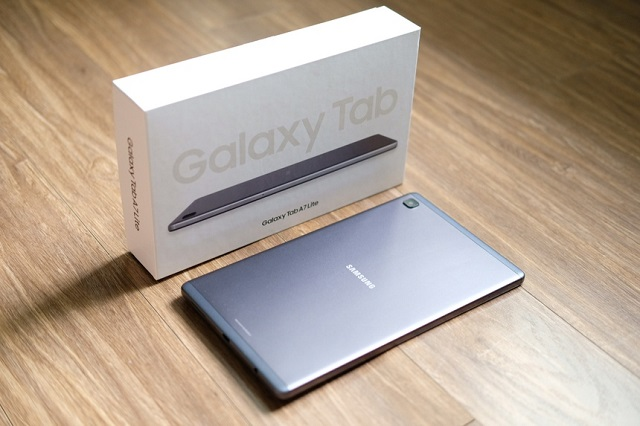 Galaxy Tab A7 Lite là mẫu tính tính bảng có giá rẻ nhất của Samsung tại thị trường Việt Nam. Ảnh: Lâm Viên.