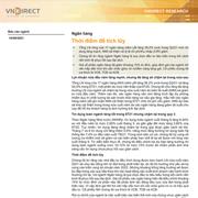 VNDirect: Ngành ngân hàng - Thời điểm để tích lũy