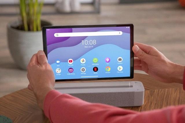 Lenovo Tab M10 FHD+ nổi bật ở thiết kế kim loại và được trang bị loa kép. Ảnh: Lenovo.