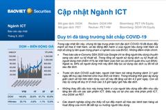 BVSC: Cập nhật ngành ICT - Duy trì đà tăng trưởng bất chấp Covid-19