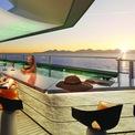"""<p class=""""Normal""""> M/Y Njord sở hữu 117 phòng nghỉ với 21 phong cách khác nhau. Trên thực tế, nó cũng là du thuyền tư nhân duy nhất trên thế giới có 14 căn hộ song lập và 2 căn hộ 3 tầng có thang máy riêng.<span>Ảnh:</span><em>M/Y Njord</em></p>"""