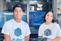 Hai đứa trẻ kiếm hơn 30.000 USD từ đào tiền ảo