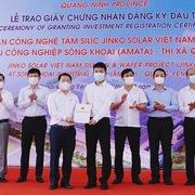 Tập đoàn Jinko Solar đầu tư gần 20.000 tỷ đồng vào 2 dự án ở Quảng Ninh