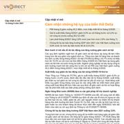 VNDirect: Cập nhật vĩ mô - Cảm nhận những hệ lụy của biến thể Delta