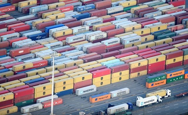 Cảng container ở Hamburg, Đức ngày 14/11/2019. Ảnh: Reuters/TTXVN