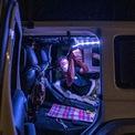 """<p class=""""Normal""""> Xe tải cắm trại ở Nhật cũng được thiết kế riêng, rất tốt. Người ở trong xe sẽ không bị ngã khi đang ngủ và không gian trữ đồ thì cực kỳ gọn gàng, ngăn nắp.<span style=""""color:rgb(34,34,34);"""">Ảnh:</span><em style=""""color:rgb(34,34,34);"""">AFP</em></p>"""