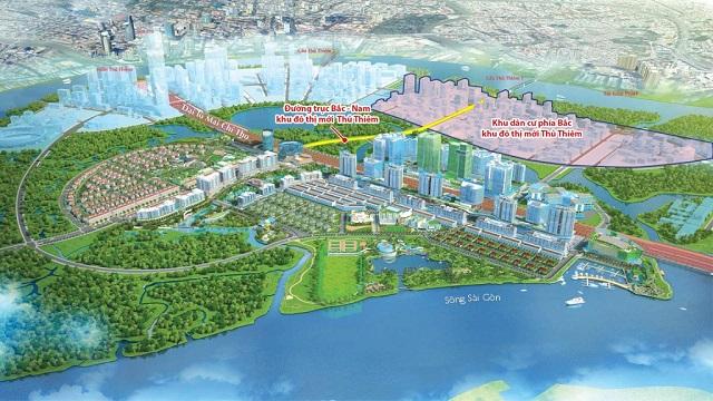 Dự án tại Khu đô thị mới Thủ Thiêm. Ảnh: CII