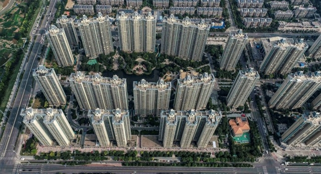 A housing complex built by Evergrande in Huai'an, eastern Jiangsu province © AFP/Getty Images