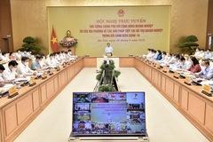 Thủ tướng họp với cộng đồng doanh nghiệp cả nước để tìm giải pháp phục hồi kinh tế