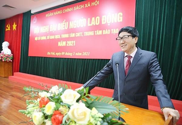 Ông Dương Quyết Thắng - Tổng Giám đốc Ngân hàng Chính sách xã hội. (Nguồn: Báo Lao động)
