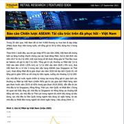 MBKE: Báo cáo Chiến lược ASEAN - Tái cấu trúc trên đà phục hồi