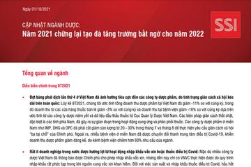 SSI Research: Ngành Dược - Năm 2021 chững lại tạo đà tăng trưởng bất ngờ cho năm 2022