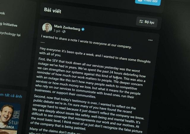 CEO Facebook đăng tâm thư nhưng bị chế nhạo, hoài nghi