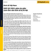 MBKE: Kinh tế Việt Nam - GDP quý III giảm do giãn cách làm nền kinh tế bị tê liệt