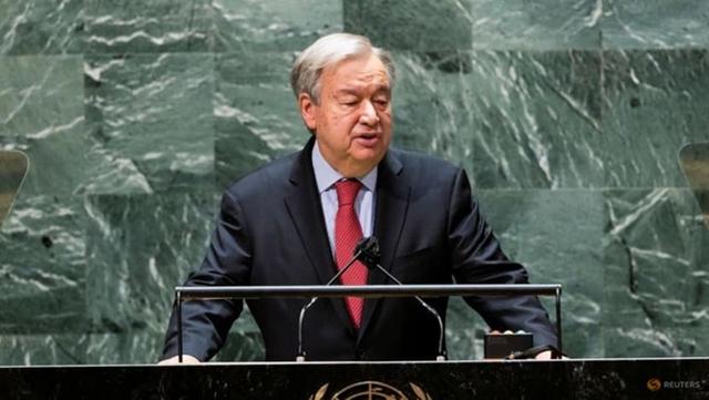 Tổng thư ký Liên Hợp Quốc Antonio Guterres phát biểu tại cuộc họp cấp cao kỷ niệm 20 năm ngày thông qua Tuyên bố Durban và Chương trình hành động. Ảnh: Reuters.