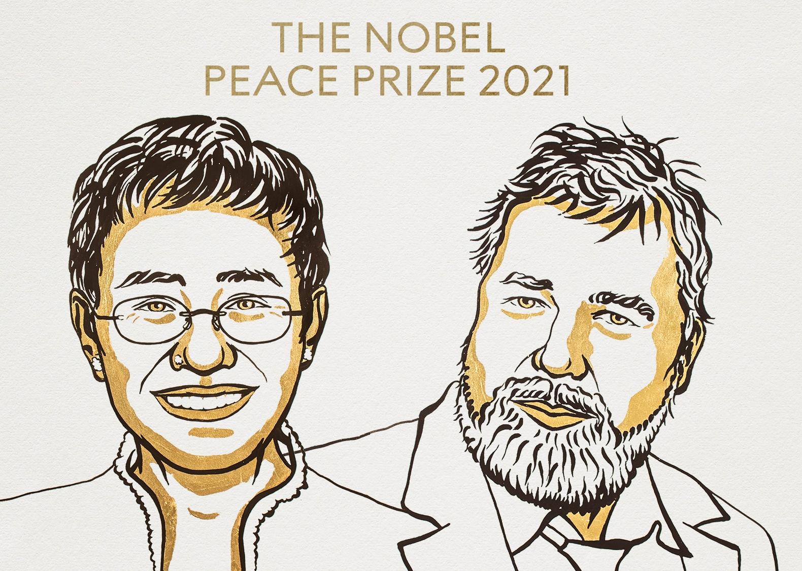 Hai nhà báo Philippines và Nga nhận Nobel Hòa bình 2021