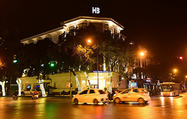 Khách sạn Hoà Bình (27 Lý Thường Kiệt) là điểm cách ly y tế tập trung từ tháng 3/2020. Ảnh: Giang Huy