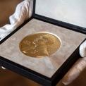 """<p class=""""Normal""""> 6 giải Nobel được các ủy ban tại Thụy Điển và Na Uy trao vào tháng 10 hàng năm, công nhận các cá nhân hoặc tổ chức có những đóng góp mang tính đột phá trong các lĩnh vực cụ thể.</p> <p class=""""Normal""""> 6 lĩnh vực trao giải thưởng Nobel gồm y sinh, vật lý, hóa học, khoa học kinh tế, văn học và hòa bình. Người đoạt giải sẽ nhận một chứng nhận và huy chương cùng phần thưởng 10 triệu krona Thụy Điển (khoảng 1,1 triệu USD) – sẽ chia đều nếu có nhiều bên đạt cùng một giải.</p> <p class=""""Normal""""> Do đại dịch Covid-19, các lễ trao giải năm nay được tổ chức cả dưới hình thức trực tuyến và trực tiếp. Người thắng giải sẽ nhận huy chương và chứng nhận gửi đến quốc gia của họ trong tháng 12. Ảnh: <em>AP.</em></p>"""