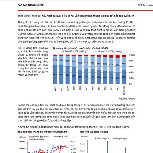 EVS: Triển vọng Tháng 10 - Xấu nhất đã qua, điều tệ hại vẫn còn nhưng những tín hiệu tốt bắt đầu xuất hiện