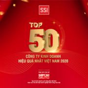 Chứng khoán SSI vào top 50 công ty kinh doanh hiệu quả nhất Việt Nam năm 2020