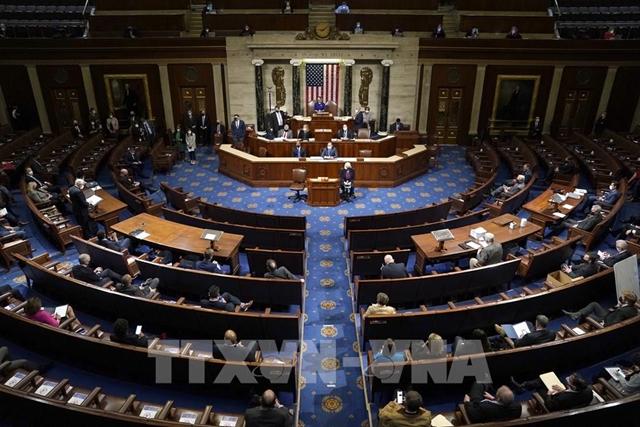 Toàn cảnh một phiên họp của Hạ viện Mỹ ở Washington DC, ngày 6/1. Ảnh: AFP/TTXVN
