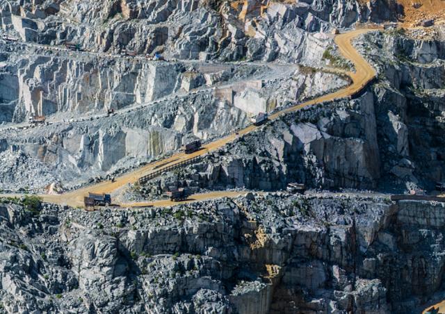 Mỏ đá khai thác của KSB. Ảnh: KSB