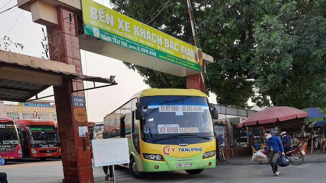 Bắc Giang là 1 trong 6 địa phương mở lại hoạt động vận tải hành khách bằng xe ôtô từ hôm nay (13/10).