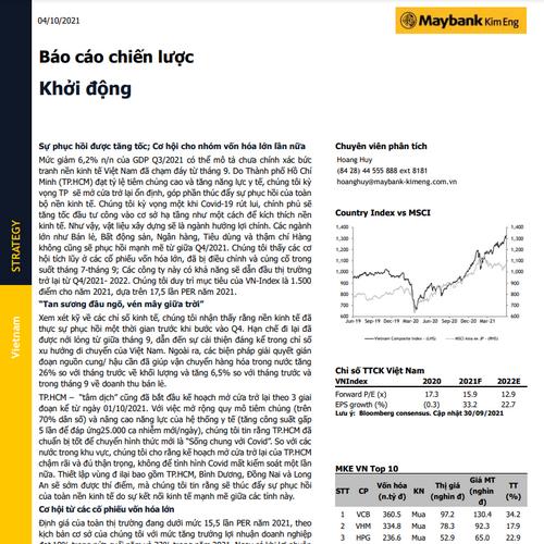 MBKE: Báo cáo chiến lược - Khởi động