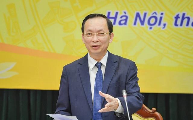 Phó Thống đốc Đào Minh Tú nói về tình hình nợ xấu. Ảnh: NHNN.