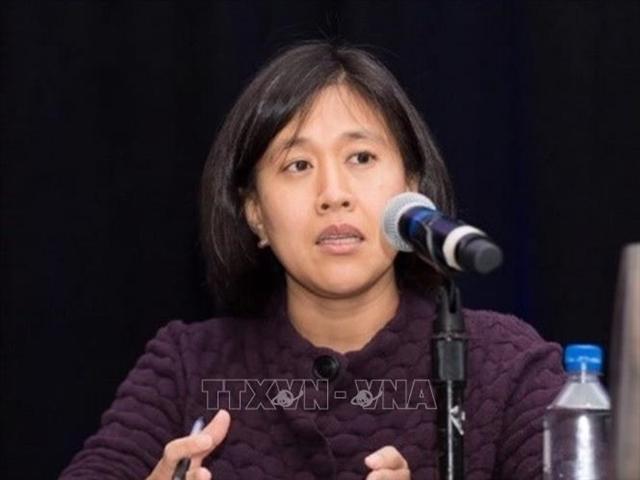 Đại diện Thương mại Mỹ Katherine Tai. Ảnh: US CHINA/ TTXVN